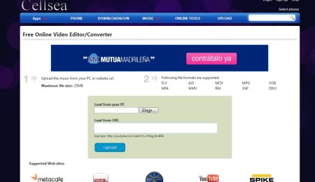 cellsea-mejor web editar videos online gratis