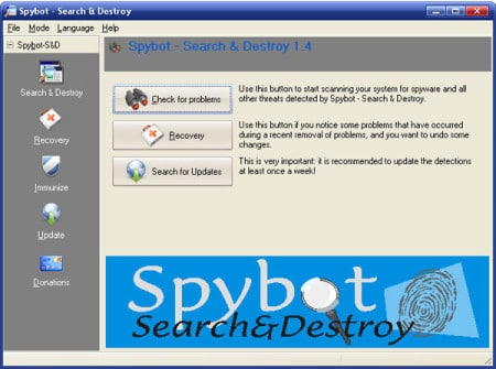 spybot-search-and-destroy - mejor programa antiespias antispyware gratis