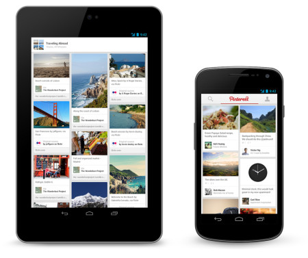 Pinterest app android iphone