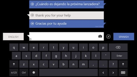 Traductor Bing app para windows phone
