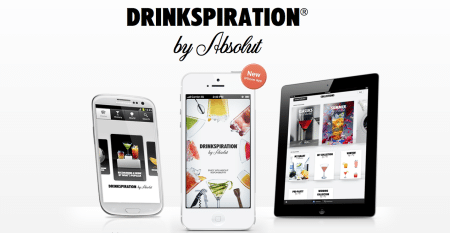 Drinkspiration app de absolut vodka