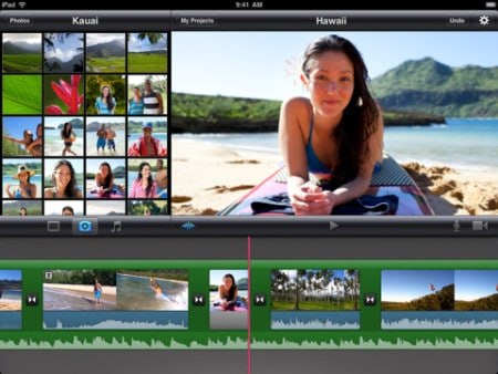 iMovie - mejor editor de video para iPhone iPad