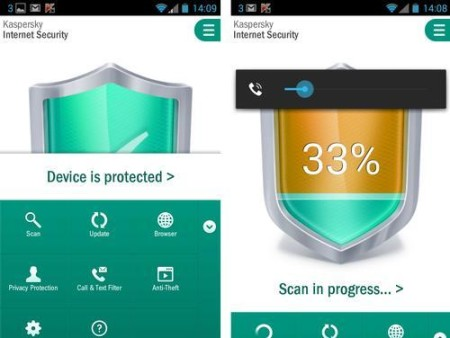 Kaspersky Internet security app - mejor antivirus movil 2015