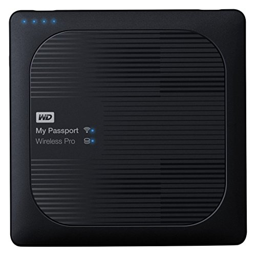 WD My Passport Wireless Pro - Disco duro externo portátil de 2 TB (con Wi-Fi AC, SD y USB 3.0)