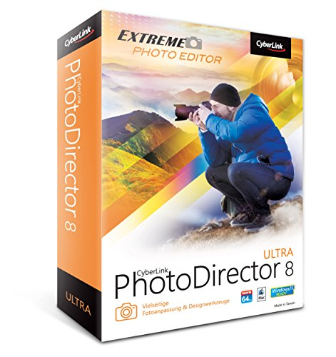 Cyberlink PhotoDirector 8 Ultra - Software de gráficos (Caja, Completo, Windows 10 Education,Windows 10 Education x64,Windows 10 Enterprise,Windows 10 Enterprise..., Win, 1000 MB, 2048 MB)