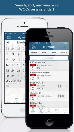 myWOD - apps crossfit para iphone