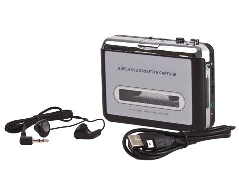 Convertidor USB Cinta Audio Cassette a MP3 CD Reproductor PC Conversor Casete