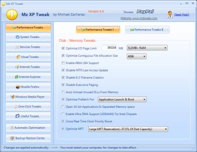 MZ XP Tweak acelerador de internet gratis