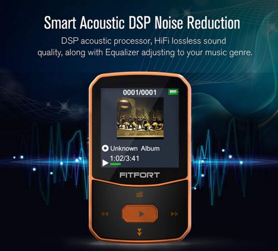 Reproductor MP3 Bluetooth 5.0 FITFORT