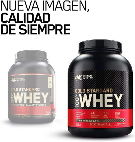 Optimum Nutrition Gold Standard 100% Whey Proteína en Polvo Double Rich Chocolate