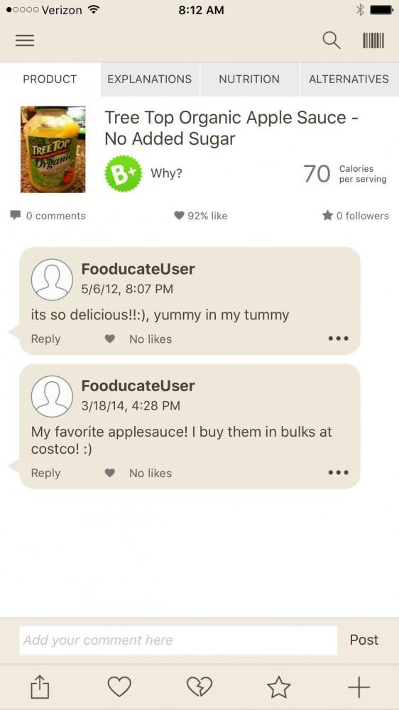 La aplicación Fooducate en el blog inKin Fitness