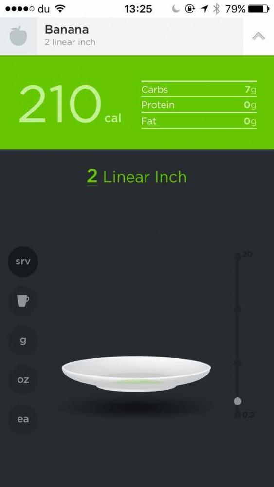 Pantalla de la aplicación Jawbone en el blog de la plataforma social de fitness inKin